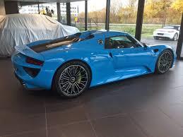 blue porsche spyder rocket blue porsche 918 spyder looks fantastic