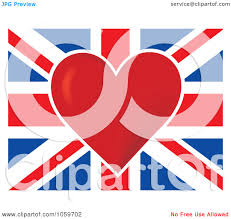 England Flag Jpg Royalty Free Vector Clip Art Illustration Of A Red Heart In The