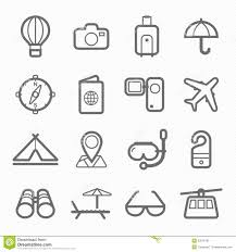 travel symbols images Travel symbol line icon set stock vector illustration of beach jpg