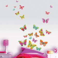 sticker chambre fille stickers papillon multicolores stickers chambre original
