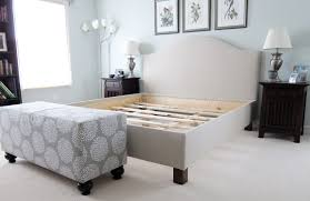 pottery barn diy pottery barn upholstered bed