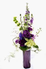 Tall Purple Vase Bloomers Flowers U0026 Decor Valentine U0027s Day Specials