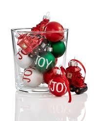set of 12 mini shatterproof ornaments