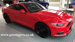 Red Mustang Black Wheels Ford Mustang