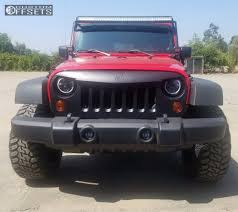 jeep angry headlights 2009 jeep wrangler red dirt road 01 unknown leveling kit