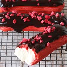 red velvet choc raspberry eclairs the scran line tastemade