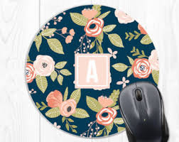 Floral Desk Accessories Floral Office Etsy