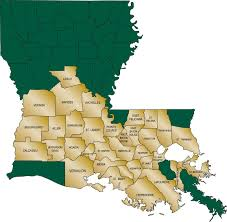 Louisiana Parishes Map by Louisiana Acadian Ambulance Service
