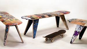 Skateboard Decorating Ideas Stunning Deckstop From Skateboard Table On Home Design Ideas With