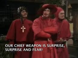 Spanish Inquisition Meme - nobody expects the spanish inquisition gif on imgur