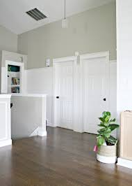 Door Trims For Laminate Flooring Finished Shiplap Walls And Farmhouse Door Trim In The Loft From