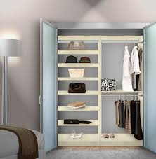 isa double hanging closet system top to bottom shelves contempo