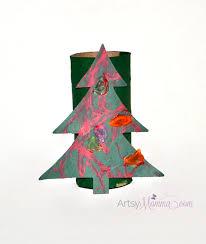 cardboard tube christmas tree craft for kids artsy momma