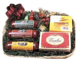 Gourmet Cheese Baskets Top Wisconsin Sausage And Cheese Gift Basket Intended For Cheese