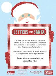 letters to santa mailbox allen tx official website