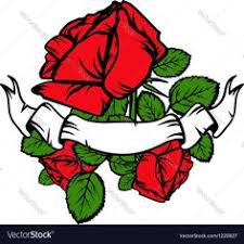 rose tattoo vector image by karlovserg camisas desenhos