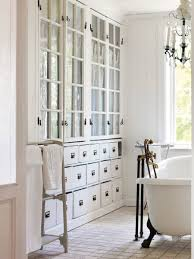 Bathroom Cabinets Built In Glass Front Bathroom Cabinets Design Ideas