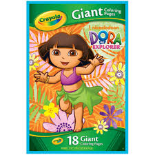 nickeledoeon dora the explorer giant coloring book dora