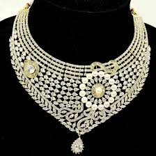 diamond set s collection stylish necklace set gold plated and seeded