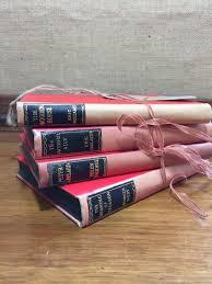 rose vintage book stack old books decoration interior design