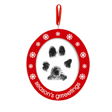 pawprints photo ornament pearhead