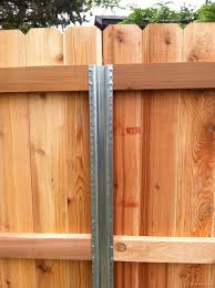 overlap joint to extend height of existing fence posts to support