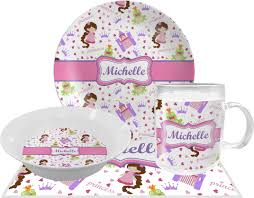 personalized dinner plate princess print dinner set 4 pc personalized potty