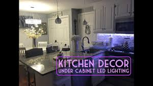 under cabinet led lights kitchen home decor under cabinet led lighting walkthrough youtube