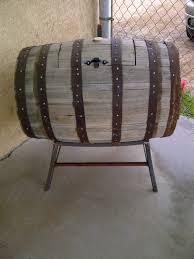 Whiskey Barrel Kitchen Table Diy Whiskey Barrel Turned Into Beverage Cooler Would Want To Cut
