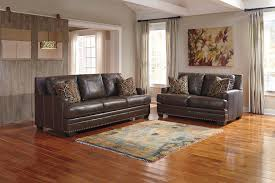 ashley corvan genuine leather sofa and love in houston fashion