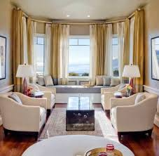 awesome bay windows for glamorous living room ideas with white