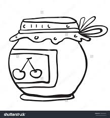 jam jar clipart black and white clipartxtras