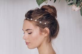 gold headband simple flower wedding headband in gold silver or gold