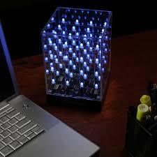 Lighted Desk Hypnocube Animated Led Cube Thinkgeek