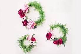 flower wreath diy silk flower wreath with afloral green wedding shoes