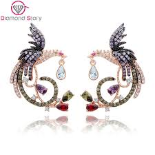 unique stud earrings teemi multi cz stud earrings seren marketing solution