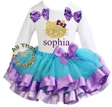hello ribbon personalized purple glitter hello birthday tutu