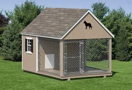 Shed Backyard Dog Kennels Dog Kennel 10 U0027 Wide Amish Backyard Structures