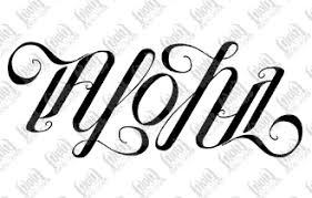 awesome aloha ambigram tattoo design photo 2 photo pictures