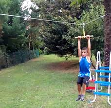 Zip Line For Backyard backyard zip line 11 steps with pictures