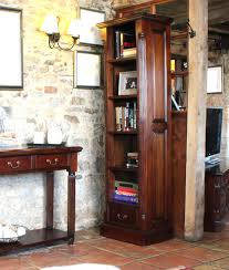 Narrow Bookcase by Elegant Mahogany Tall Narrow Bookcase Hampshire Furniture