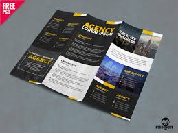 corporate trifold brochure template free psd by free download psd