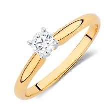 1 4 carat engagement ring engagement ring with a 1 4 carat in 14kt yellow white gold