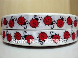 ladybug ribbon aliexpress buy 5yds per roll 5y1624 david ribbon 5 8