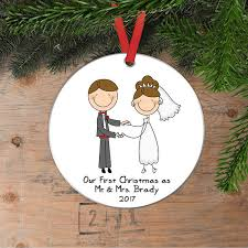 personalized wedding christmas ornament personalized wedding gift christmas ornament wedding