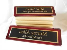 etched glass desk name plates custom desk name plates gifts for the boss personalized regarding