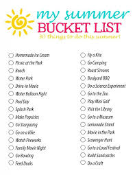 summer list 30 summer activity ideas for families and