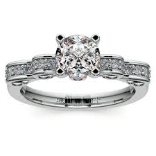 cinderella engagement ring cinderella ribbon diamond engagement ring in white gold