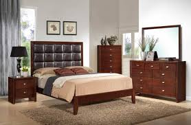bedroom set modern upholstery faux leather headboard wooden 2