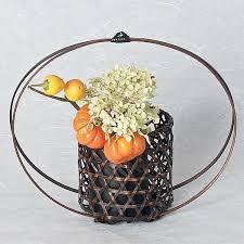 basket arrangements moon bamboo basket for delicate flower arrangements ziji